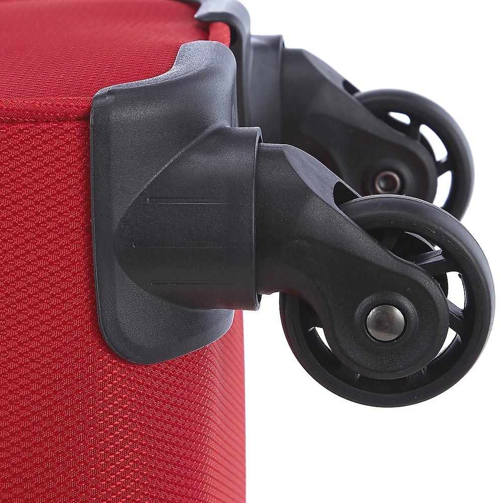 Набор красных чемоданов March Delta на молнии