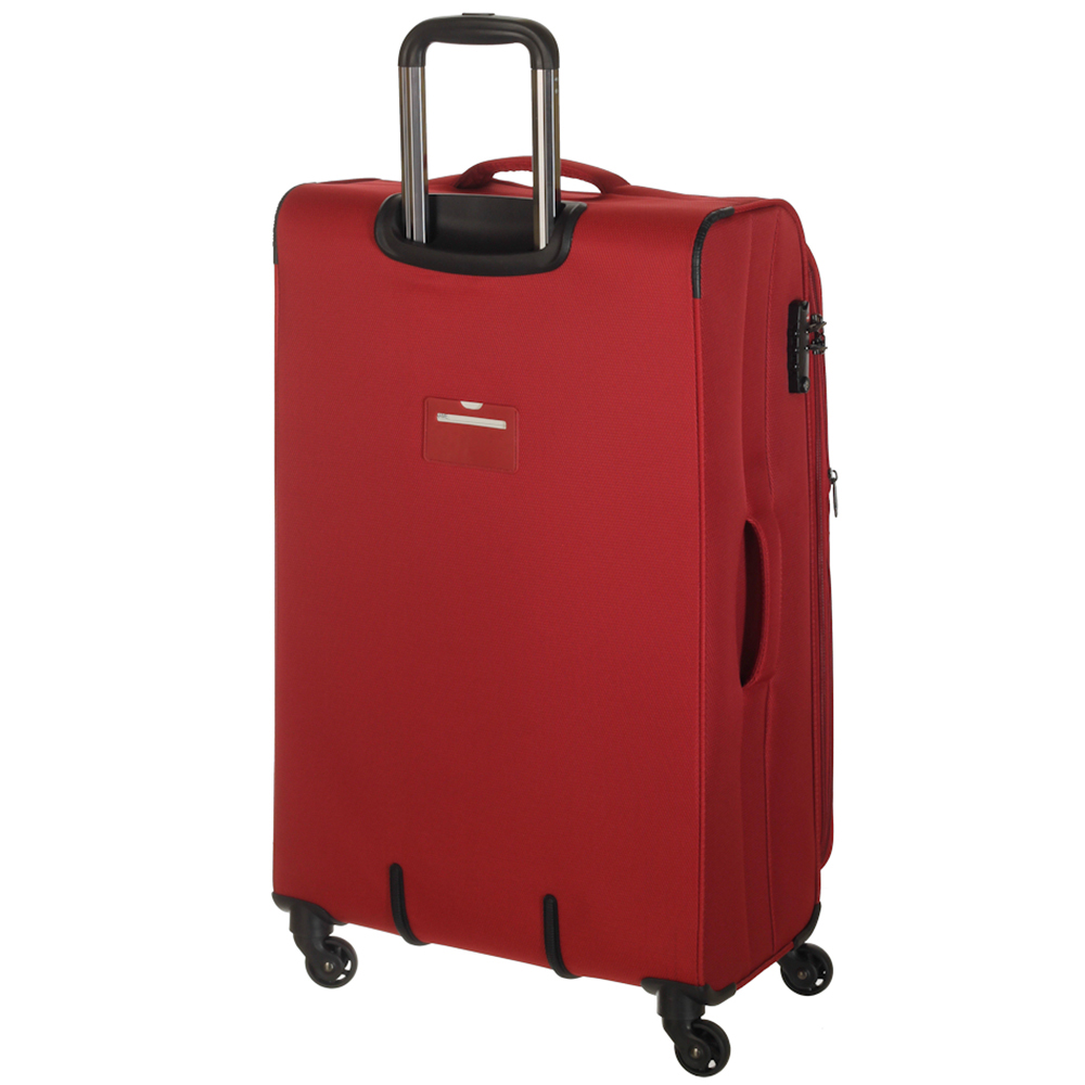 Большой красный чемодан 78х47х29см March Delta с функцией расширения