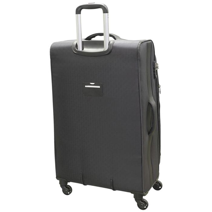 Серый чемодан большого размера 78х47х29см March Delta с 4х колесной системой