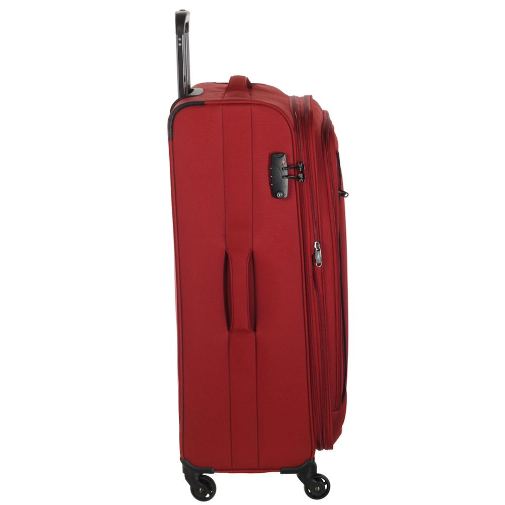 Красный чемодан среднего размера 68x26x42см March Delta с замком блокировки TSA