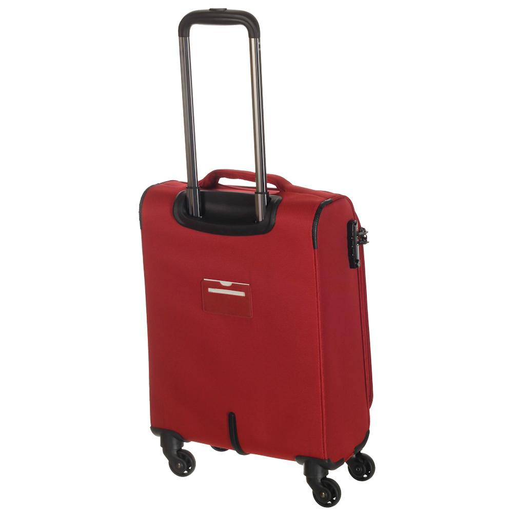 Маленький чемодан 55х35х20см March Delta с корпусом из нейлона в красном цвете