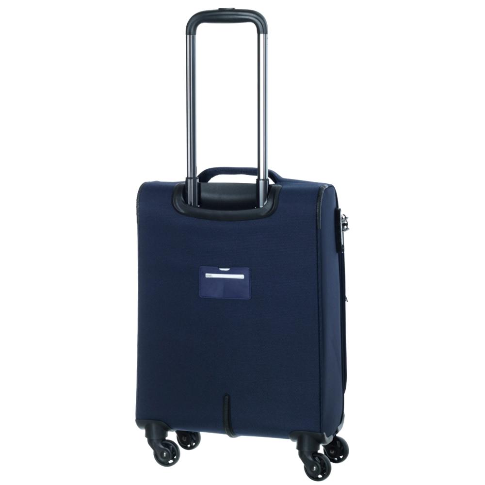 Чемодан синего цвета 55х35х20см March Delta размера ручной клади