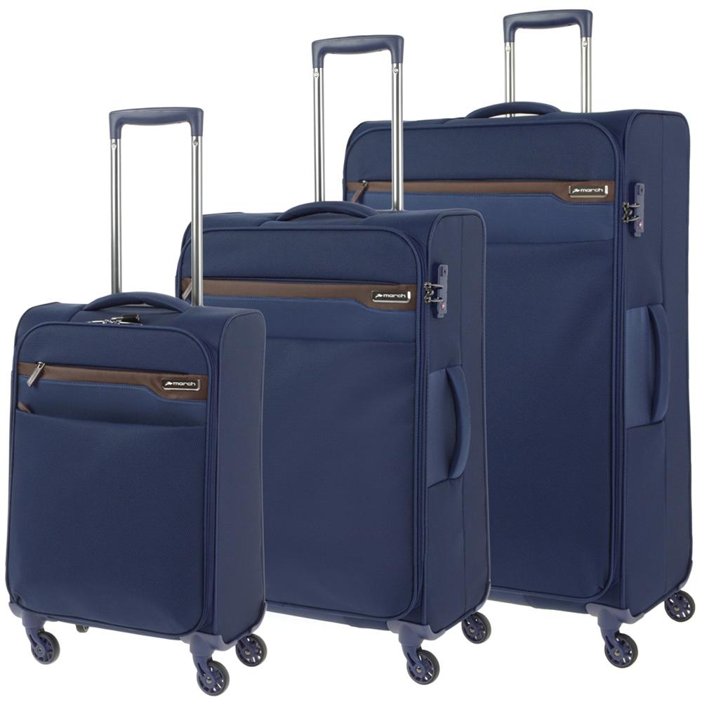 Набор чемоданов синего цвета March Lite для путешествий