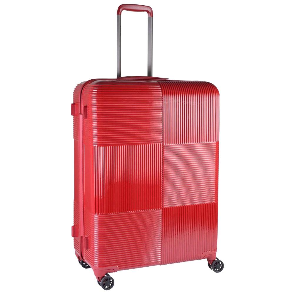 Красный чемодан 77х29х54см March Avenue большого размера с 4х колесной системой
