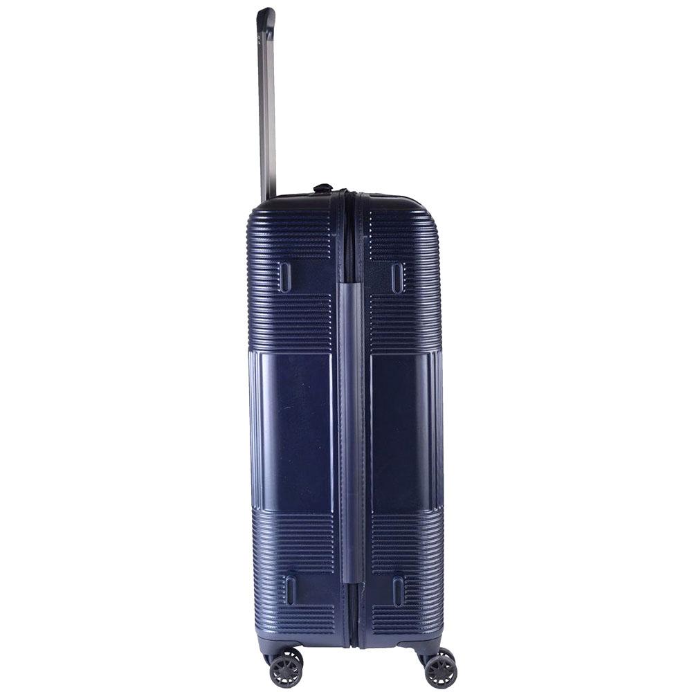 Большой чемодан 77х29х54см March Avenue с корпусом синего цвета из поликарбоната