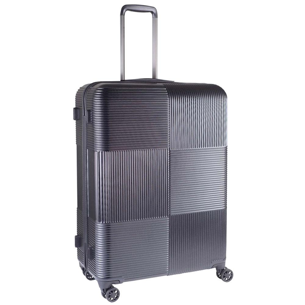 Черный большой чемодан 77х29х54см March Avenue с замком блокировки TSA