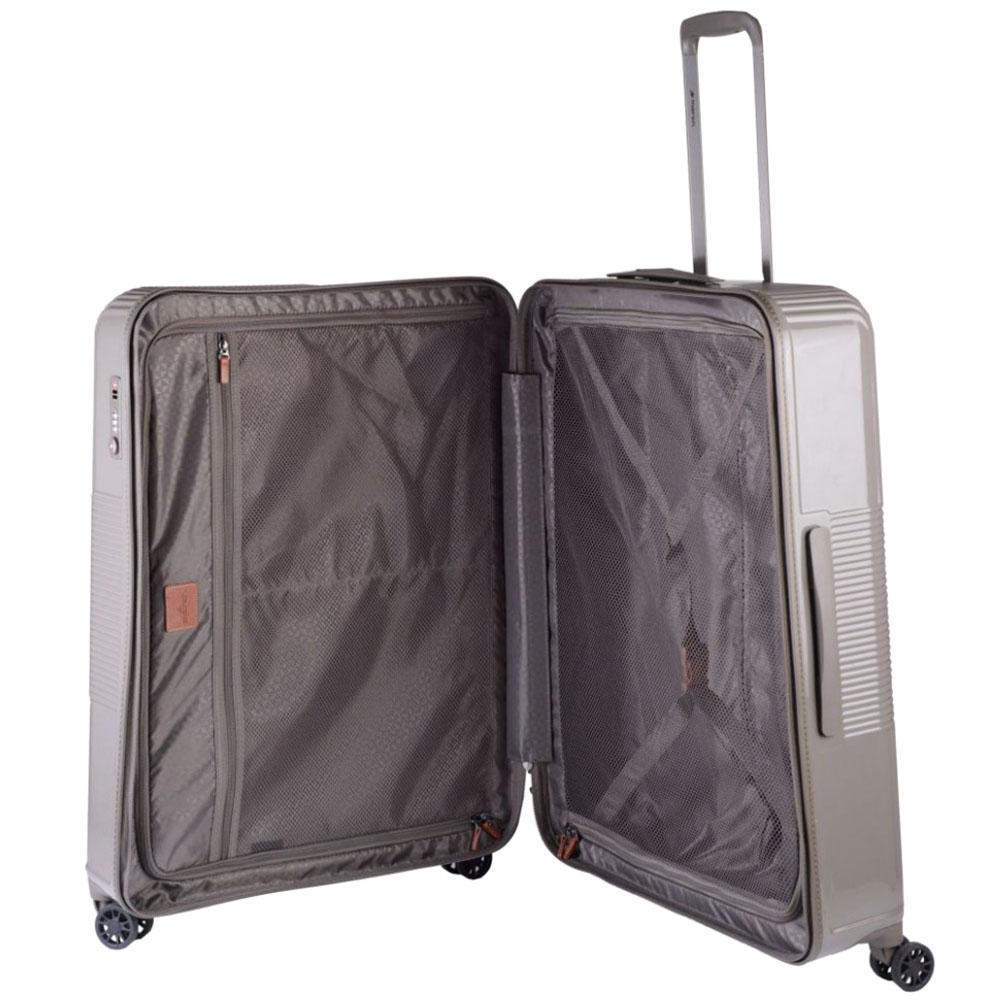 Бежевый чемодан 77х29х54см March Avenue большого размера на молнии