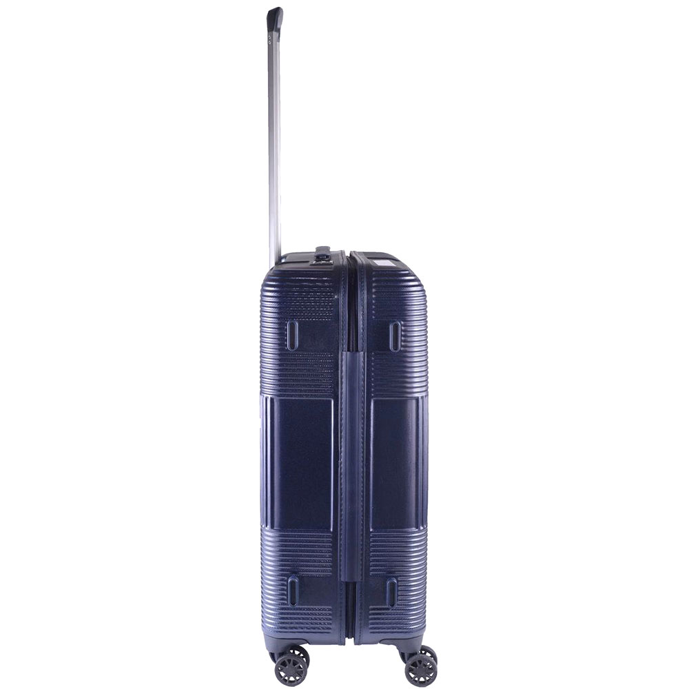 Средний чемодан синего цвета 66x25x46см March Avenue с 4х колесной системой