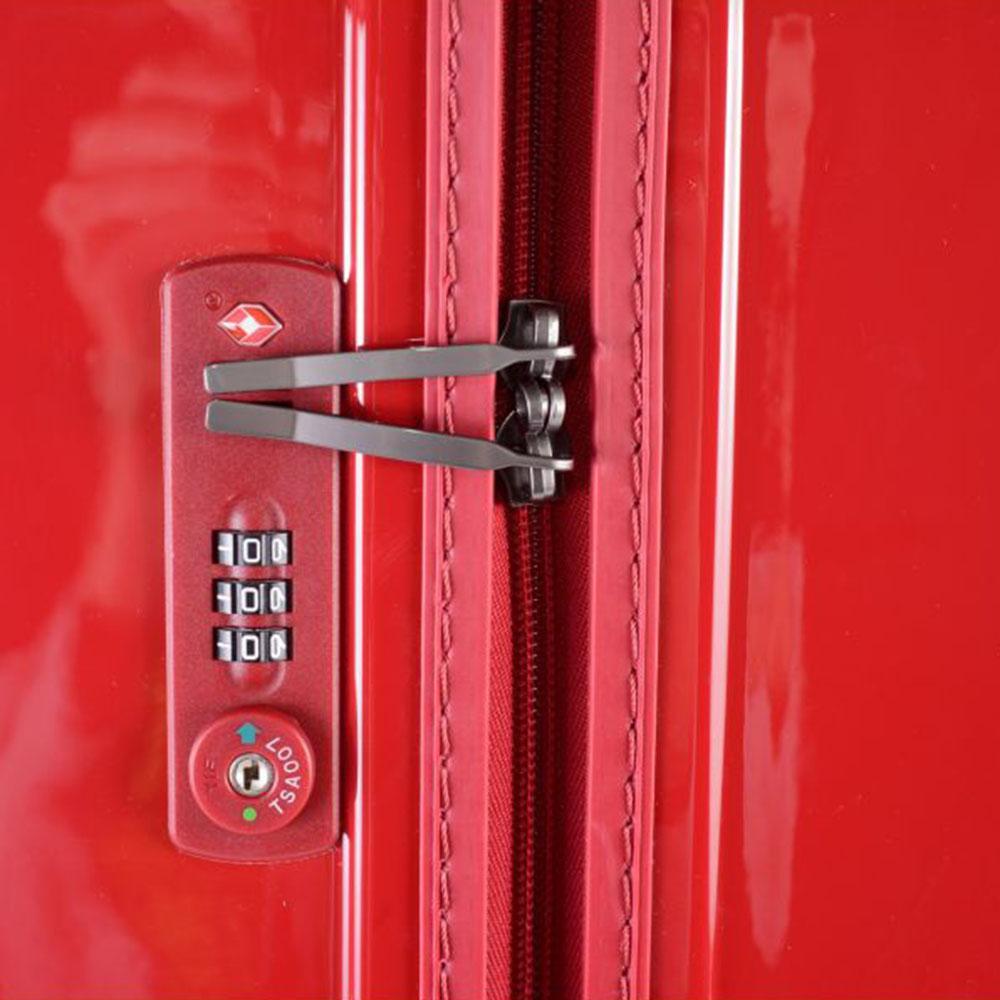Маленький красный чемодан 55х35х21,5см March Avenue с замком блокировки TSA