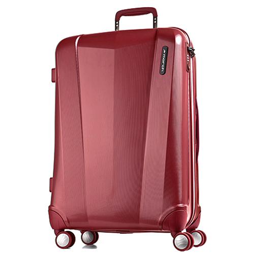 Большой чемодан 77х28х52см March Vision с корпусом красного цвета из поликарбоната