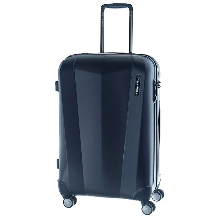 Среднего размера синий чемодан 68x26x44см March Vision с замком блокировки TSA