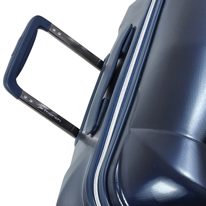 Чемодан синего цвета 55х38х20см March Vision размера ручной клади