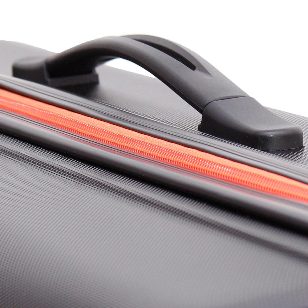 Большой черный чемодан 78х27х49см March Rocky с 4х колесной системой