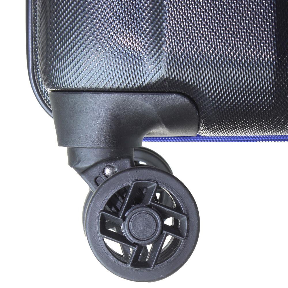 Черный чемодан среднего размера 68x45x23см March Rocky с 4х колесной системой