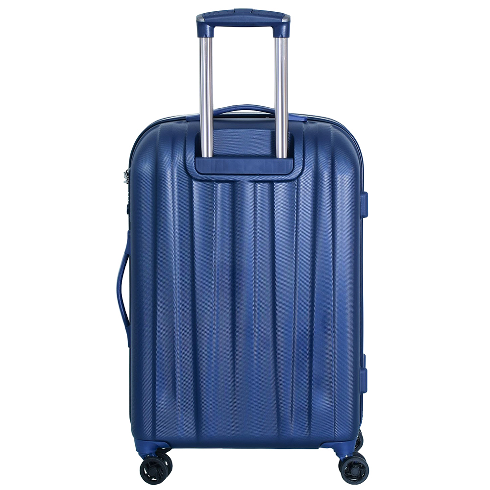 Среднего размера синий чемодан 68x45x23см March Rocky с замком блокировки TSA