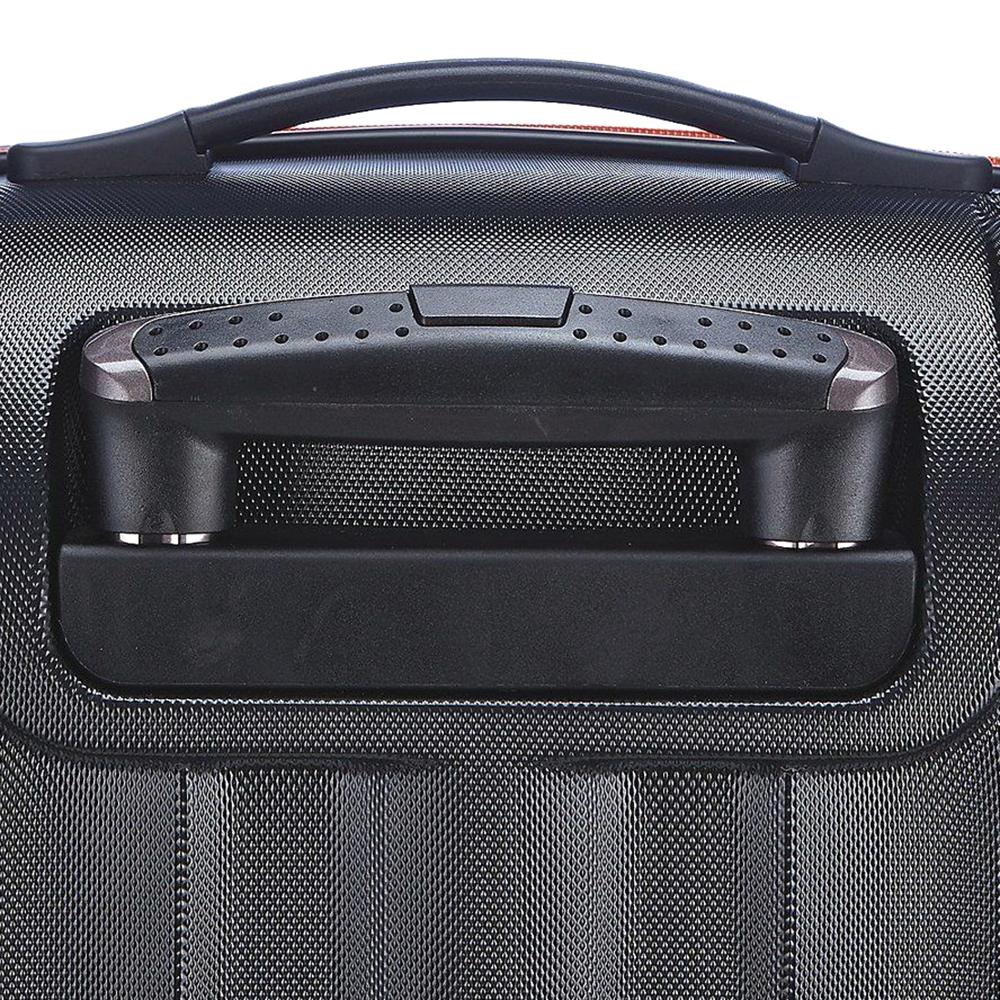 Маленький чемодан 55х35х20см March Rocky в черно-оранжевом цвете