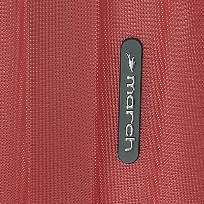 Маленький красный чемодан 55х35х20см March Rocky с 4х колесной системой