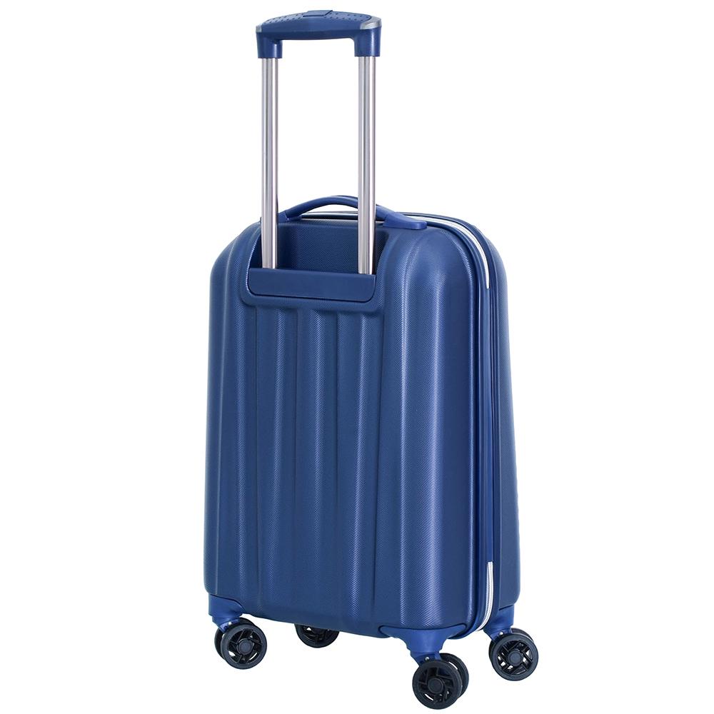Маленький чемодан 55х35х20см March Rocky с корпусом синего цвета