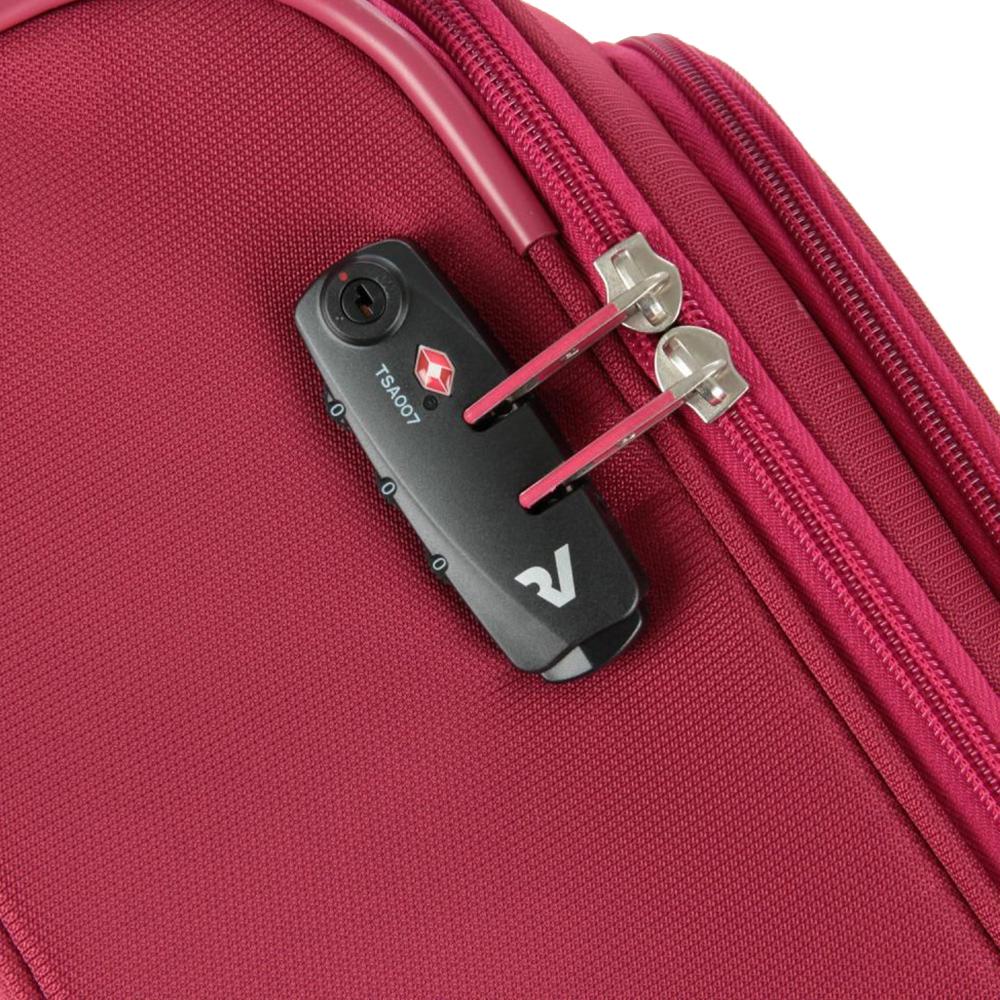 Маленький красный чемодан 55х40х20см Roncato Roma размера ручной клади