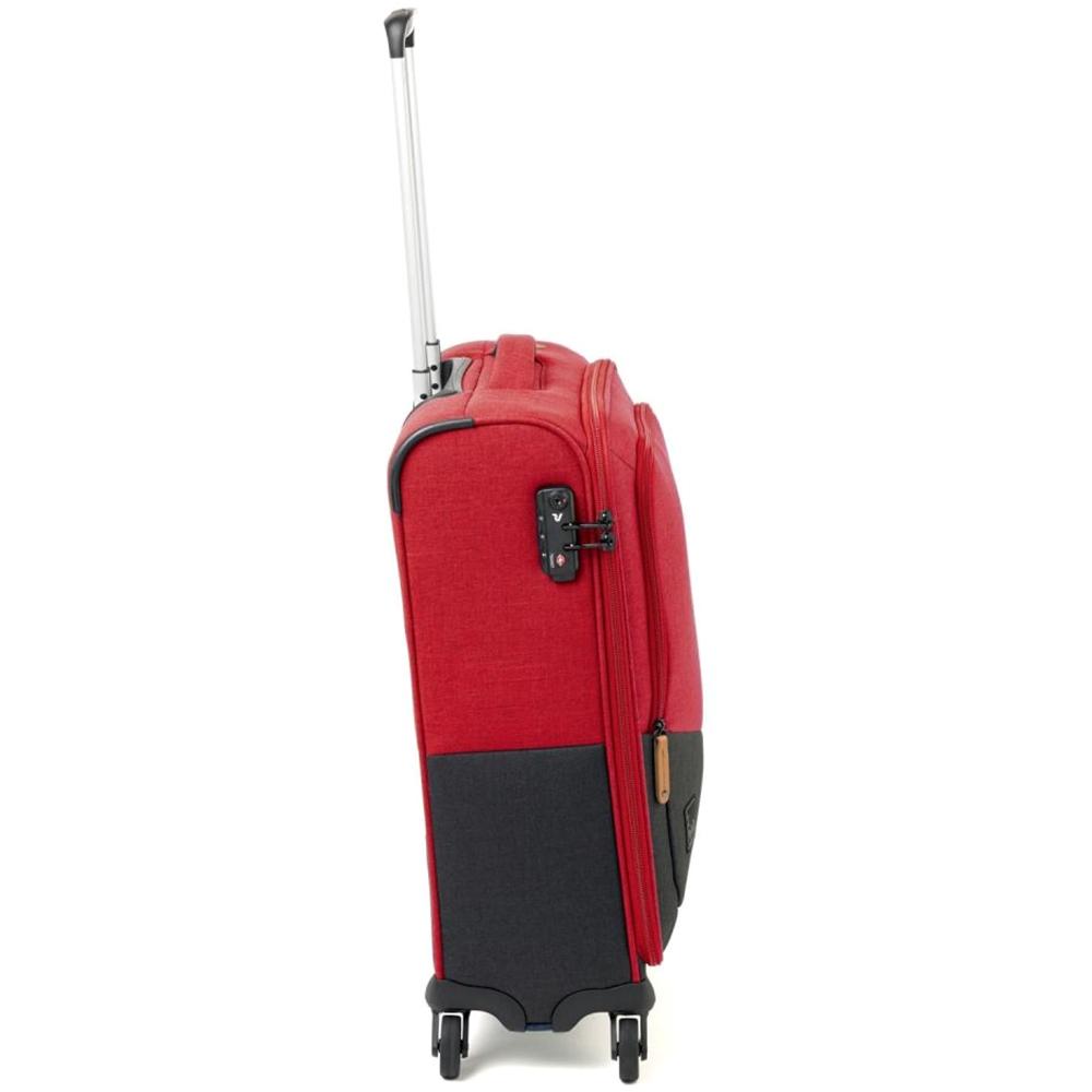 Маленький чемодан 55x40х20см Roncato Adventure в красно-черном цвете