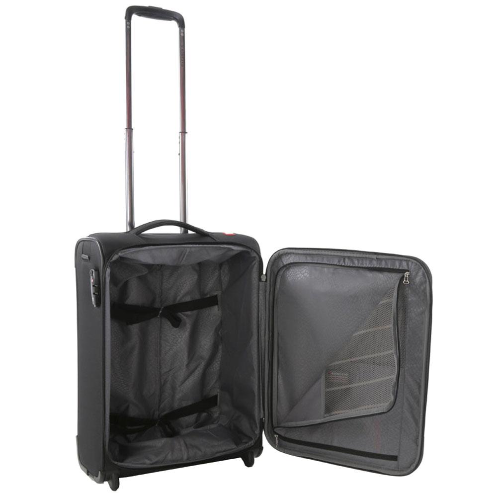 Маленький черный чемодан 55х40х20см Roncato Zero Gravity с 2х колесной системой