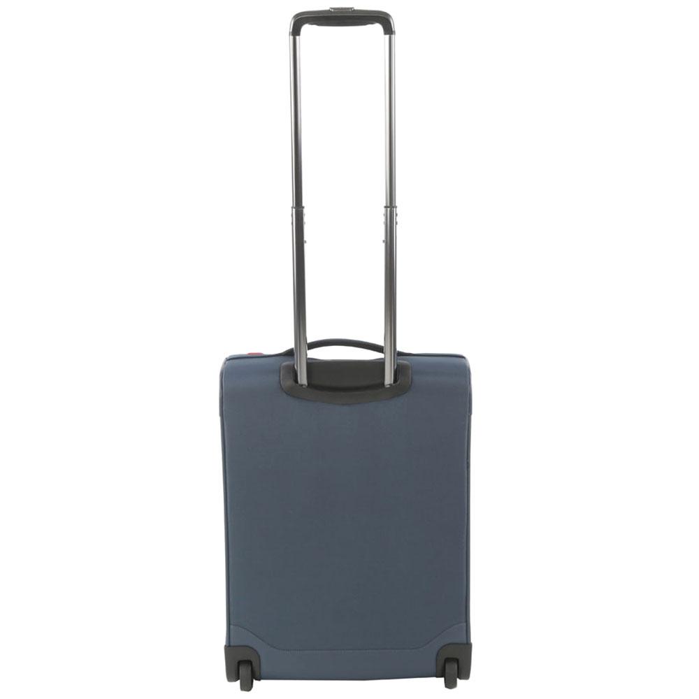 Чемодан маленького размера 55х40х20см Roncato Zero Gravity с корпусом синего цвета