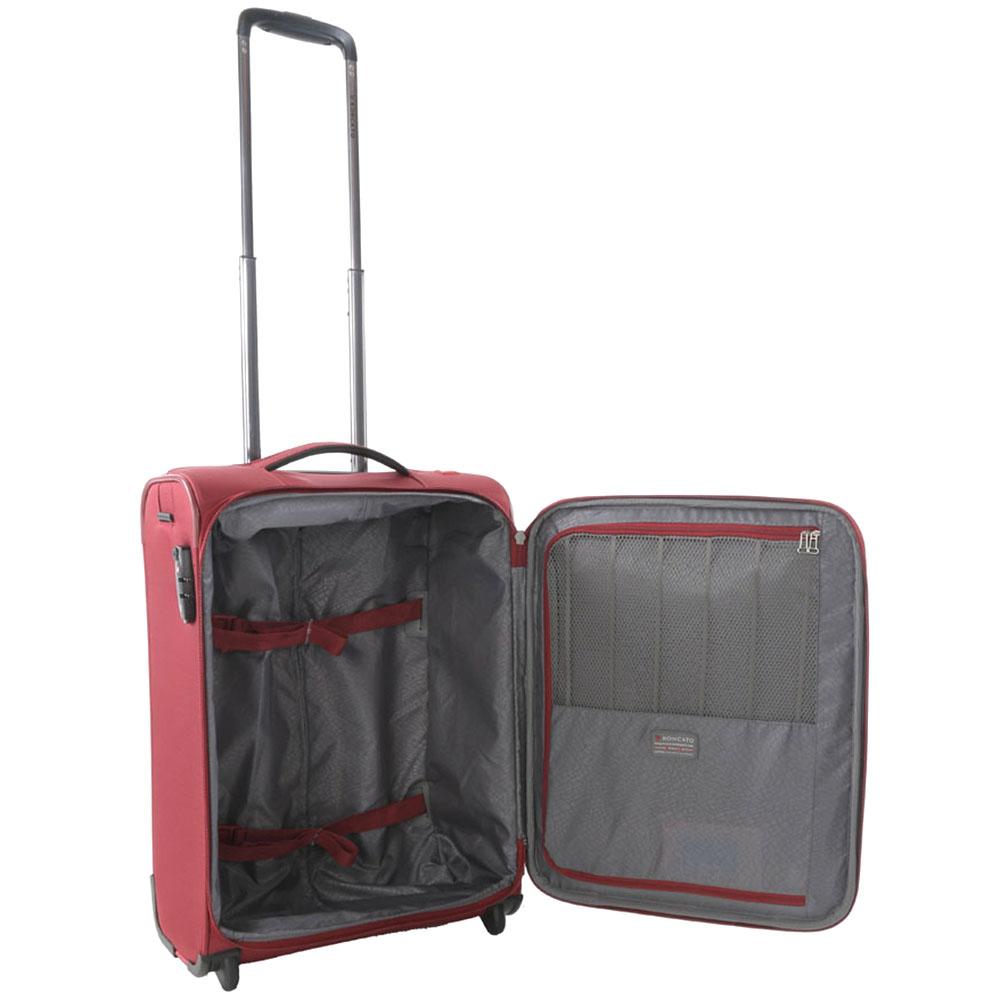 Бордовый маленький чемодан 55х40х20см Roncato Zero Gravity с кодовой блокировкой TSA