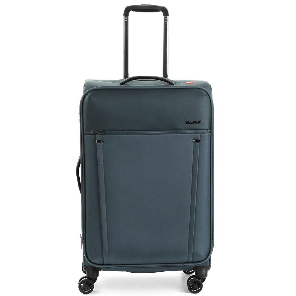 Синий чемодан 68x43x26,5-30,5см Roncato Zero Gravity среднего размера с функцией расширения
