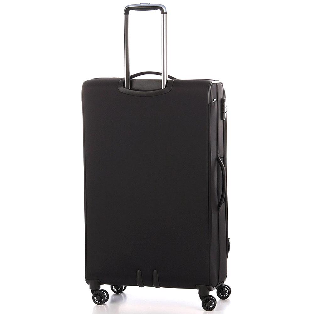 Большой черный чемодан 78х48х29-32см Roncato Zero Gravity Deluxe с кодовой блокировкой TSA