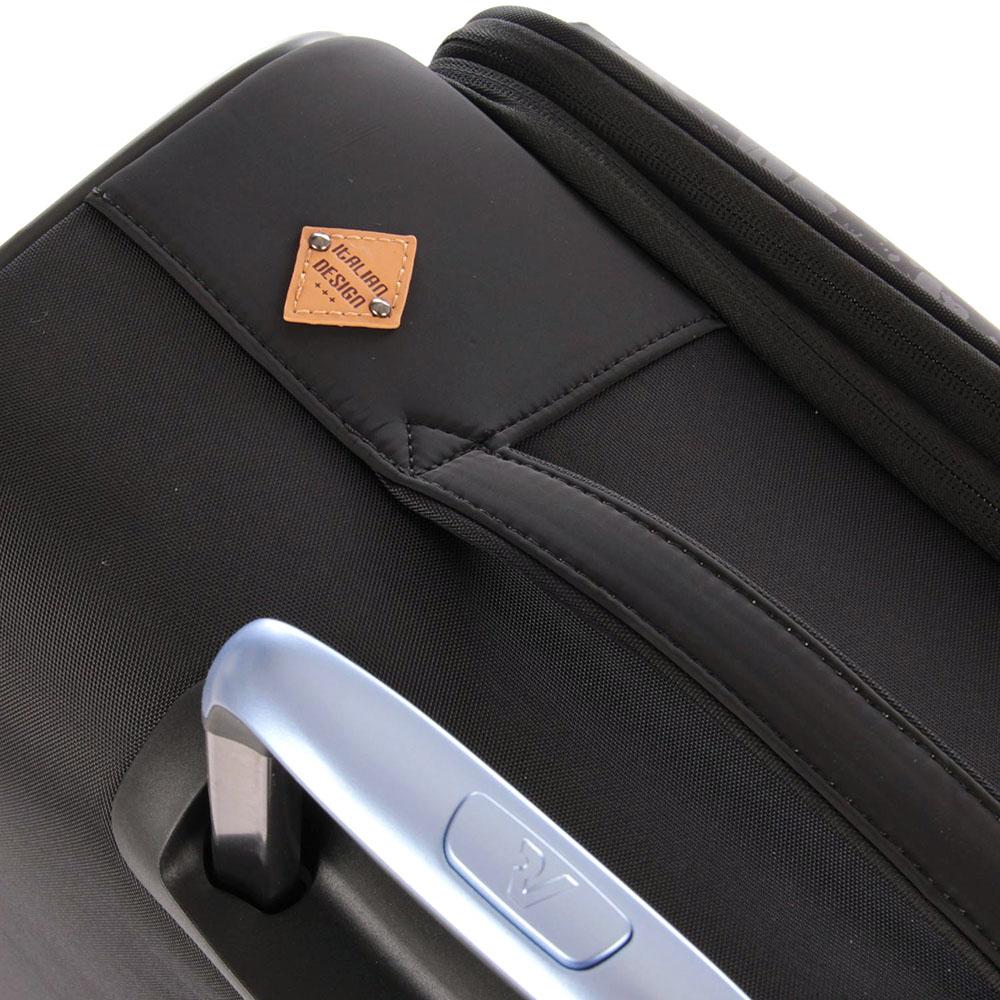 Черный чемодан 67x44x27-31см Roncato Zero Gravity Deluxe среднего размера с функцией расширения