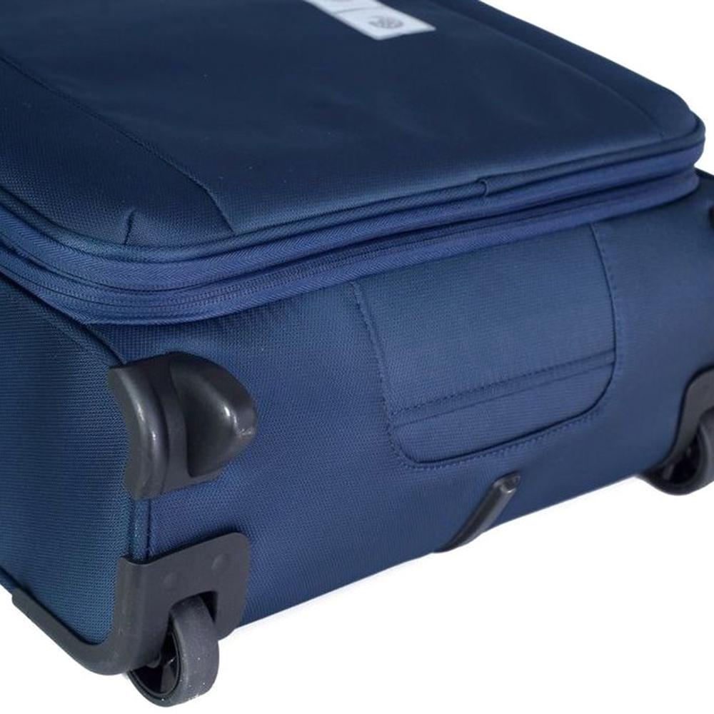 Маленький синий чемодан 55х40х20-23см Roncato Tribe с функцией расширения