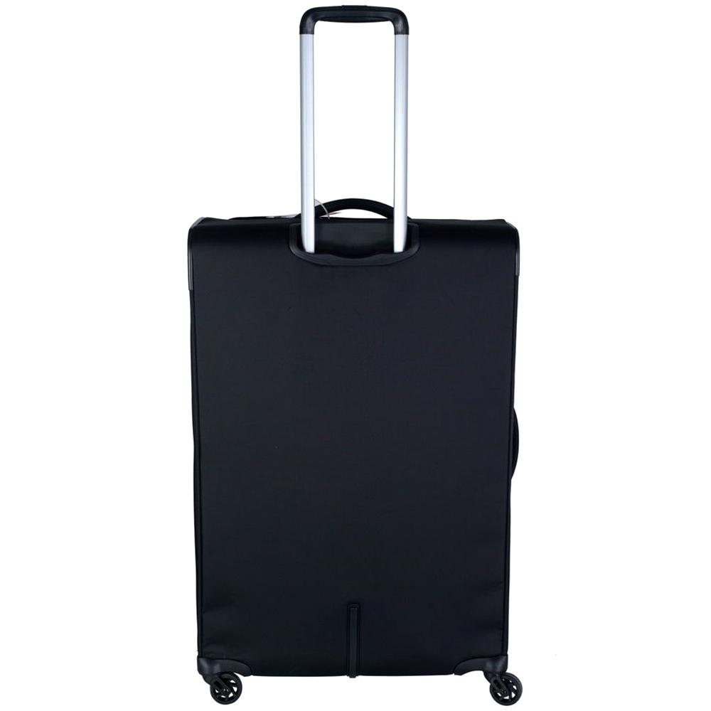 Большой чемодан черного цвета 78х50х33-37см Roncato Tribe с замком TSA