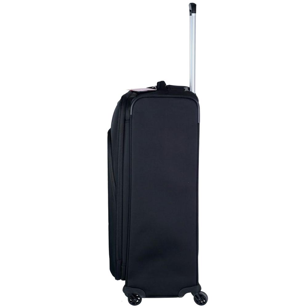 Черный чемодан 63x44x27-31см Roncato Tribe с выдвижной телескопической ручкой