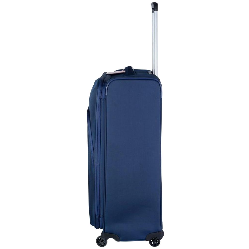 Синий чемодан 63x44x27-31см Roncato Tribe среднего размера с замком блокировки TSA
