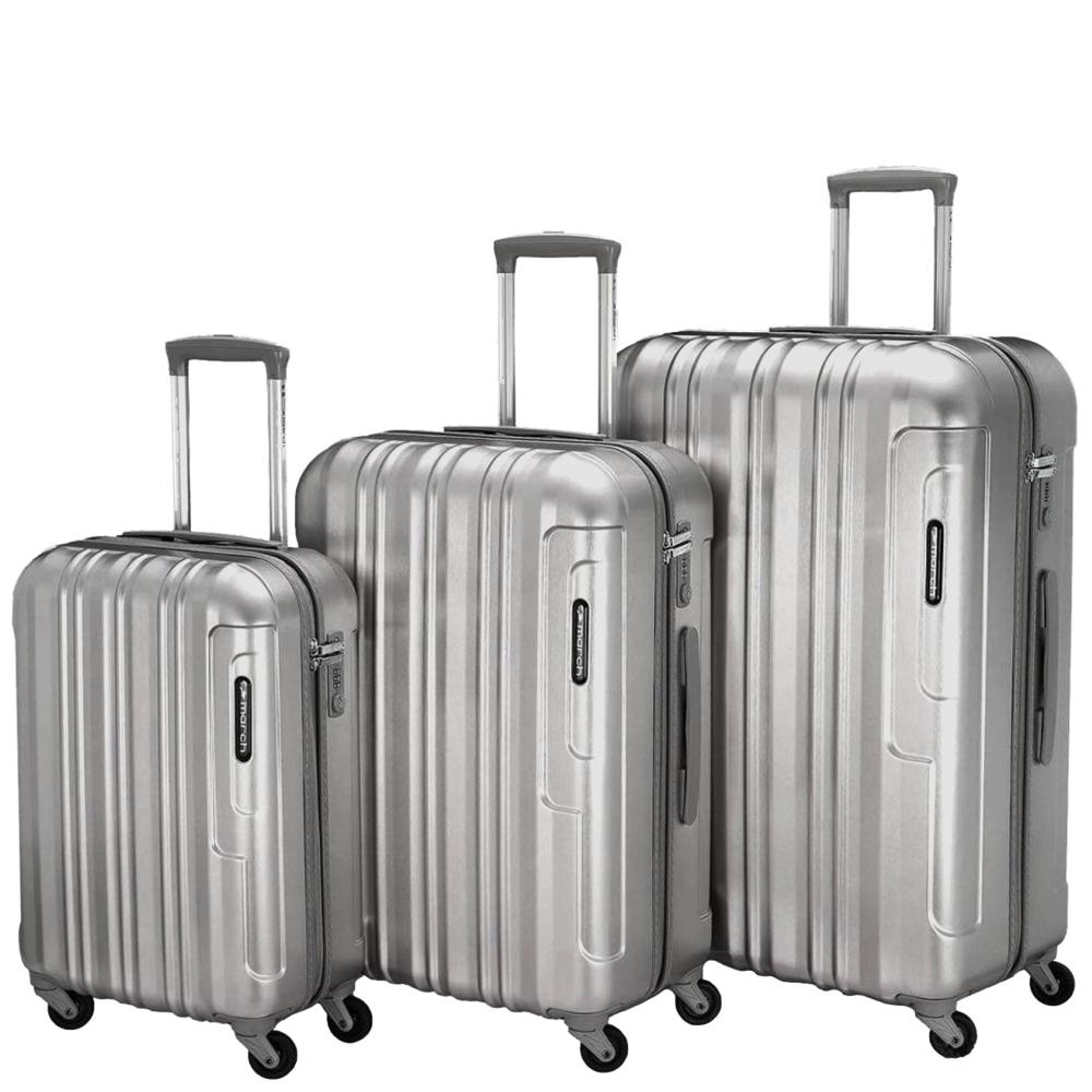 Набор чемоданов March Cosmopolitan в серебристом цвете