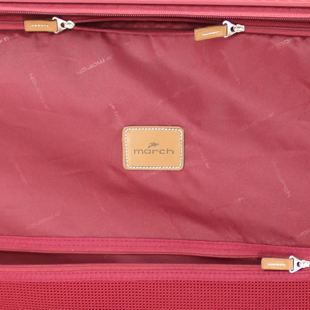 Большой красный чемодан 77х54х30см March Cosmopolitan на молнии для путешествий