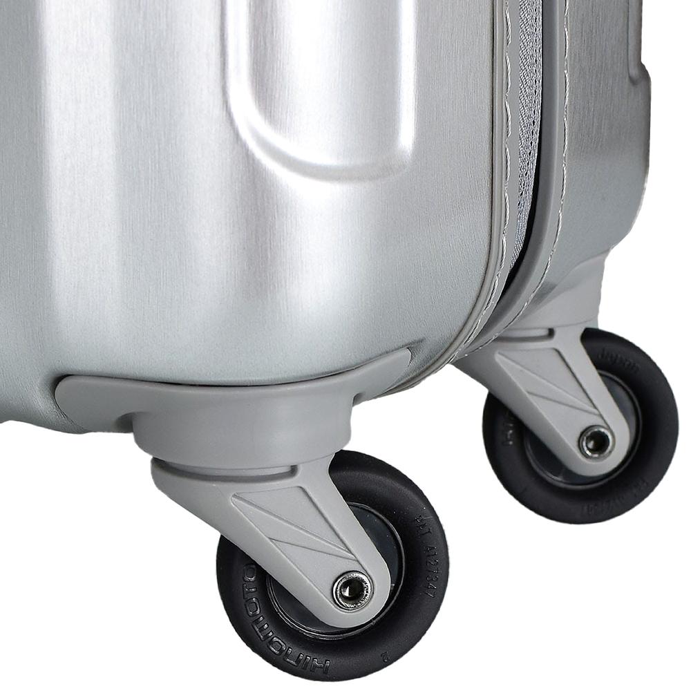 Серебристый среднего размера чемодан 66x46x25см March Cosmopolitan с замком блокировки TSA