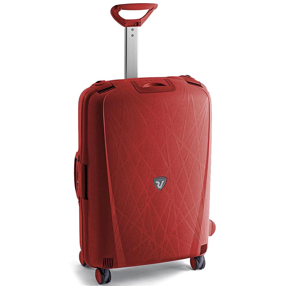 Набор чемоданов красного цвета Roncato Light с корпусом из полипропилена