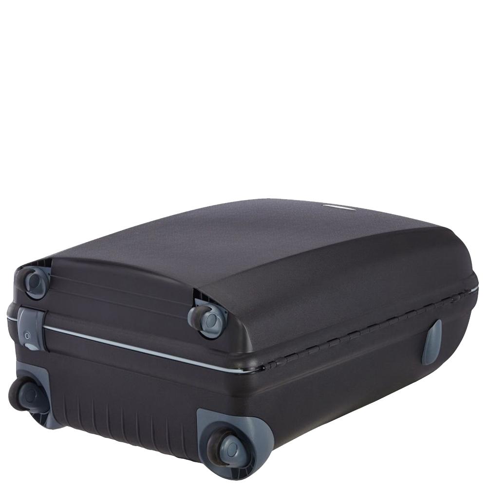 Черный чемодан 75х53х30см Roncato Light большого размера с кодовым замком TSA