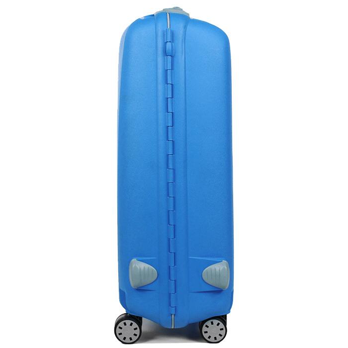 Чемодан голубого цвета 75х53х30см Roncato Light большого размера