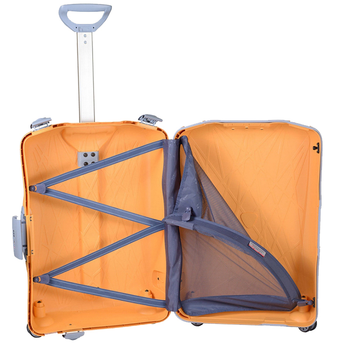 Желтый чемодан среднего размера 68x48x27см Roncato Light на 4х колесах