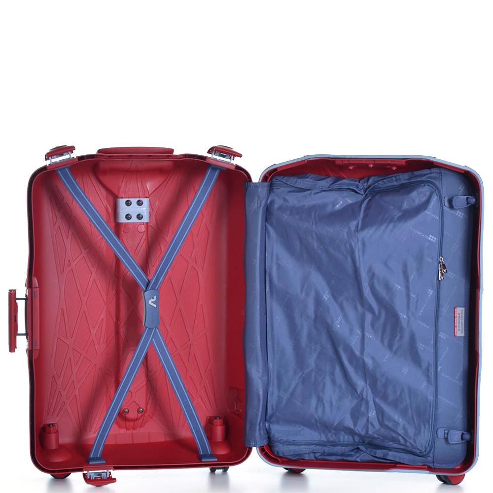 Красный чемодан среднего размера 68x48x27см Roncato Light с кодовым замком TSA