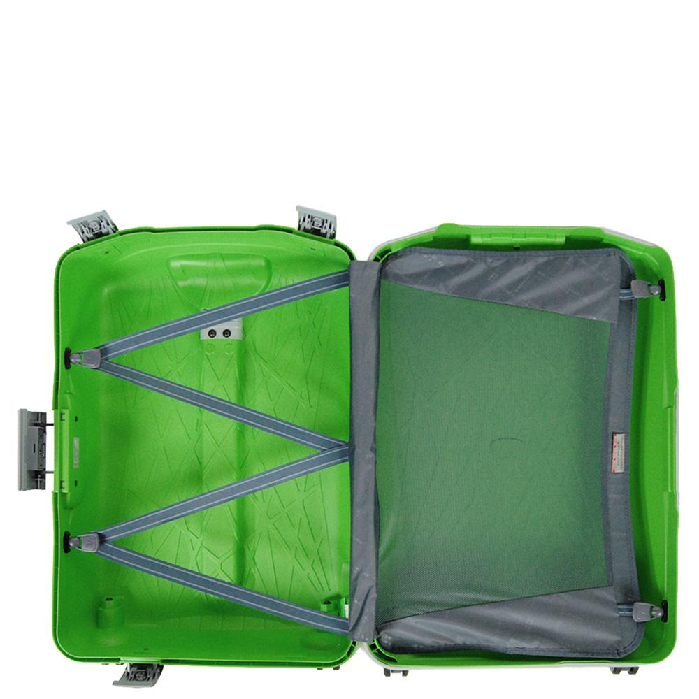 Среднего размера чемодан 68x48x27см Roncato Light в зеленом цвете