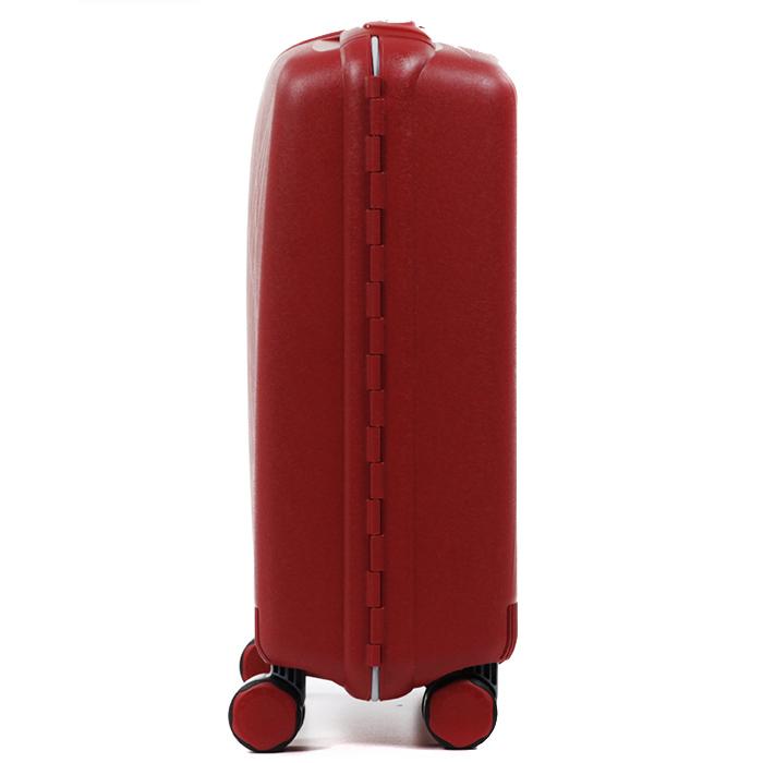 Чемодан красного цвета 55х40х20см Roncato Light размера ручной клади