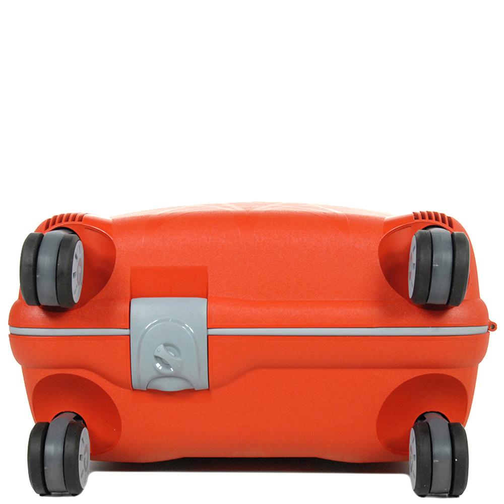Оранжевый маленький чемодан 55х40х20см Roncato Light с 4х колесной системой