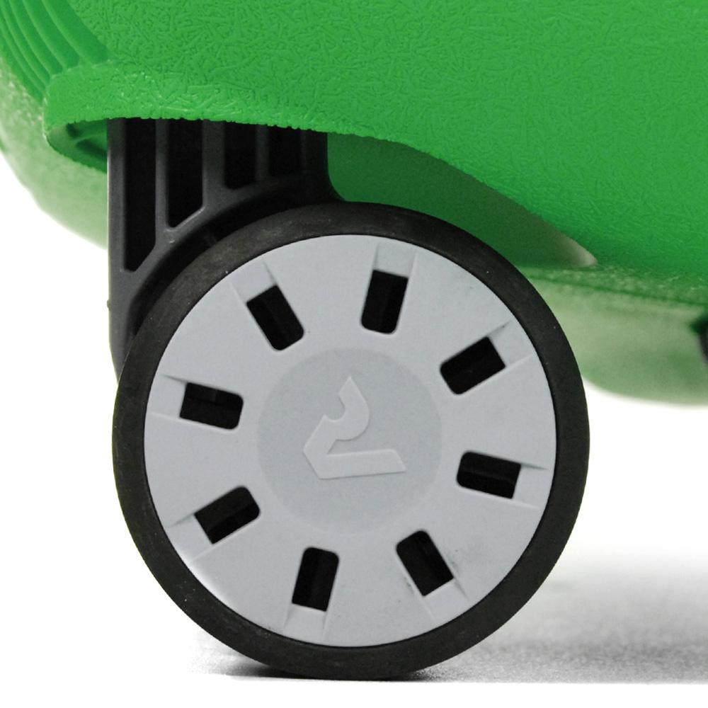 Маленький зеленый чемодан 55х40х20см Roncato Light с корпусом из полипропилена