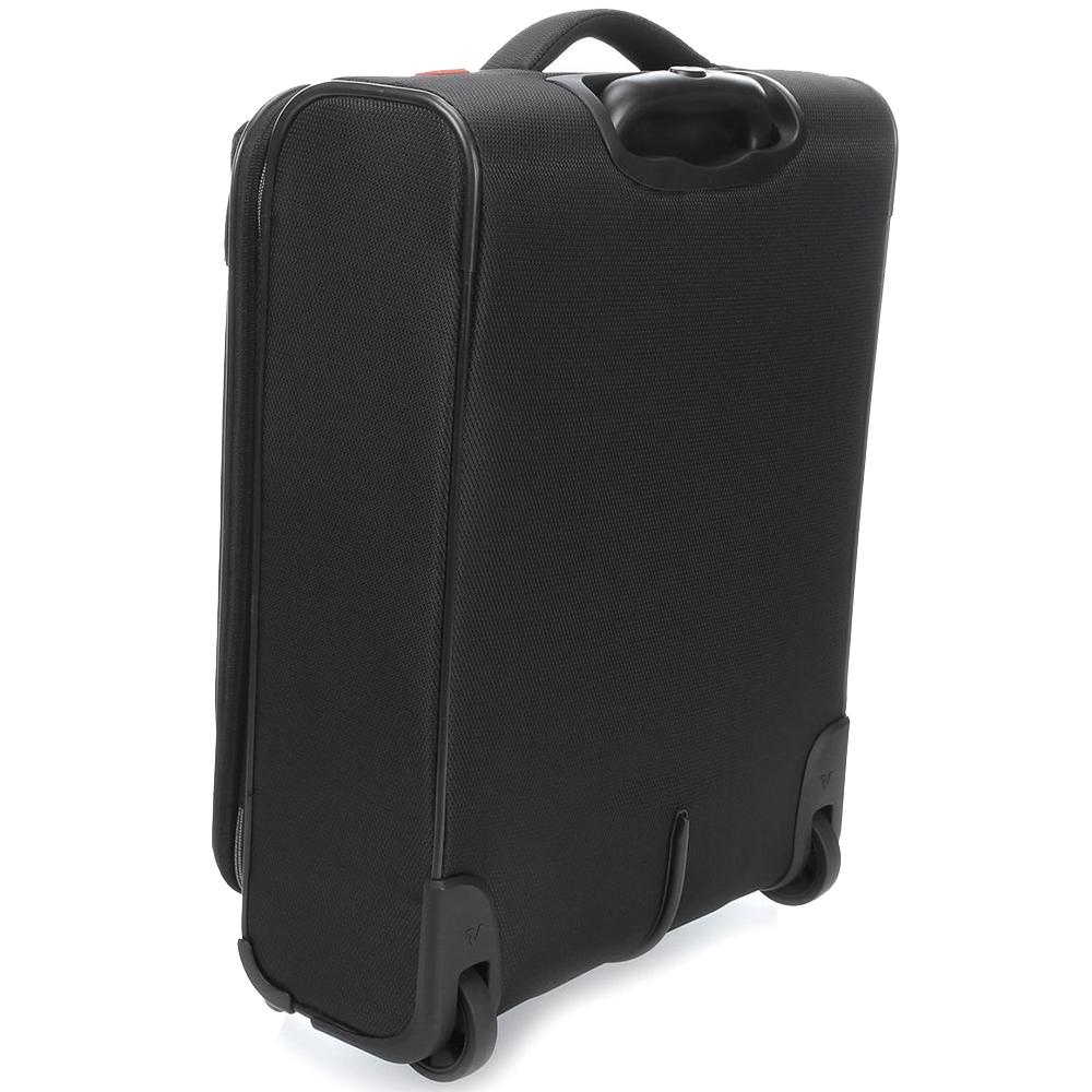 Маленький чемодан черного цвета 55х40х20-23см Roncato Ironik с замком блокировки TSA