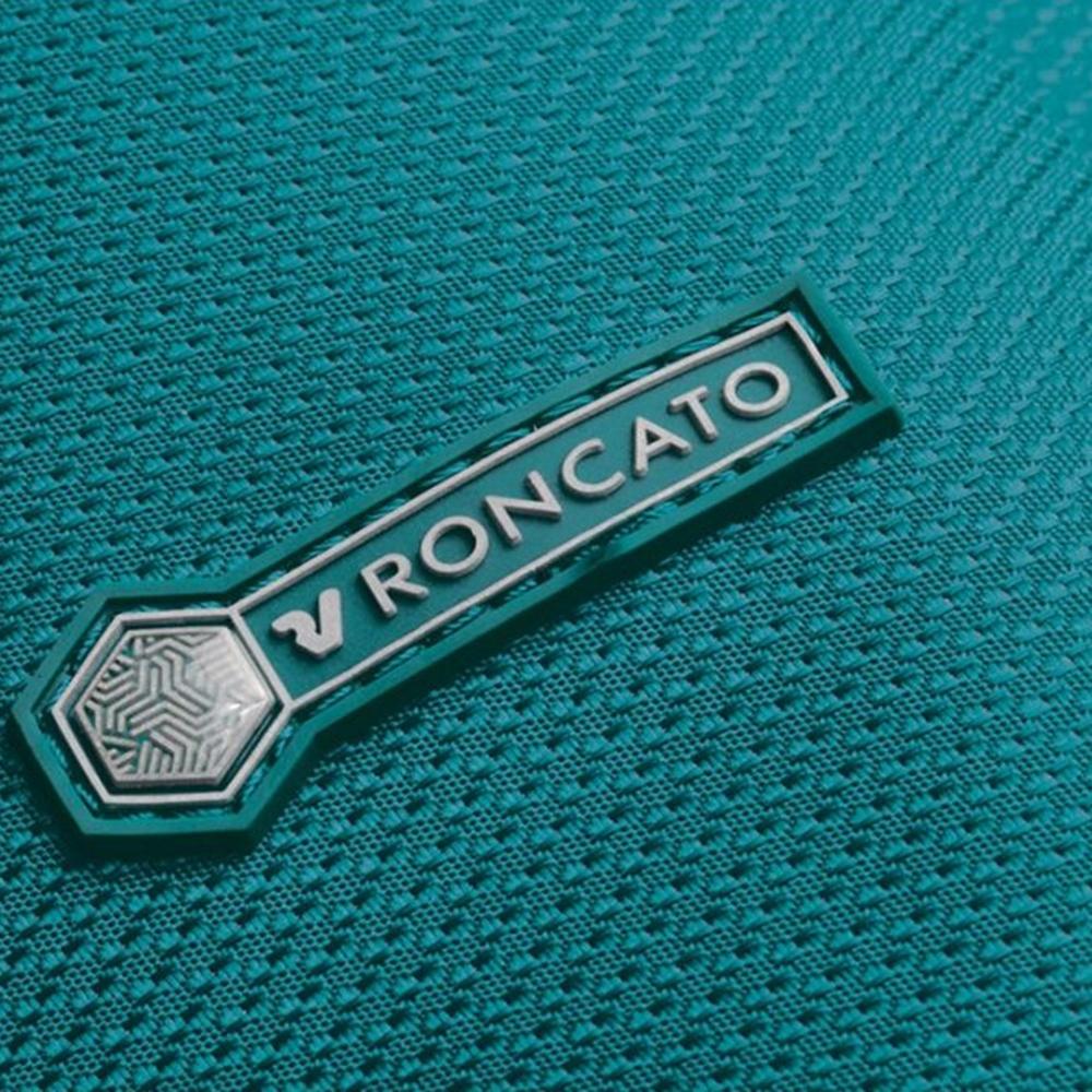 Чемодан размера ручной клади 55х40х20-23см Roncato Ironik в зеленом цвете