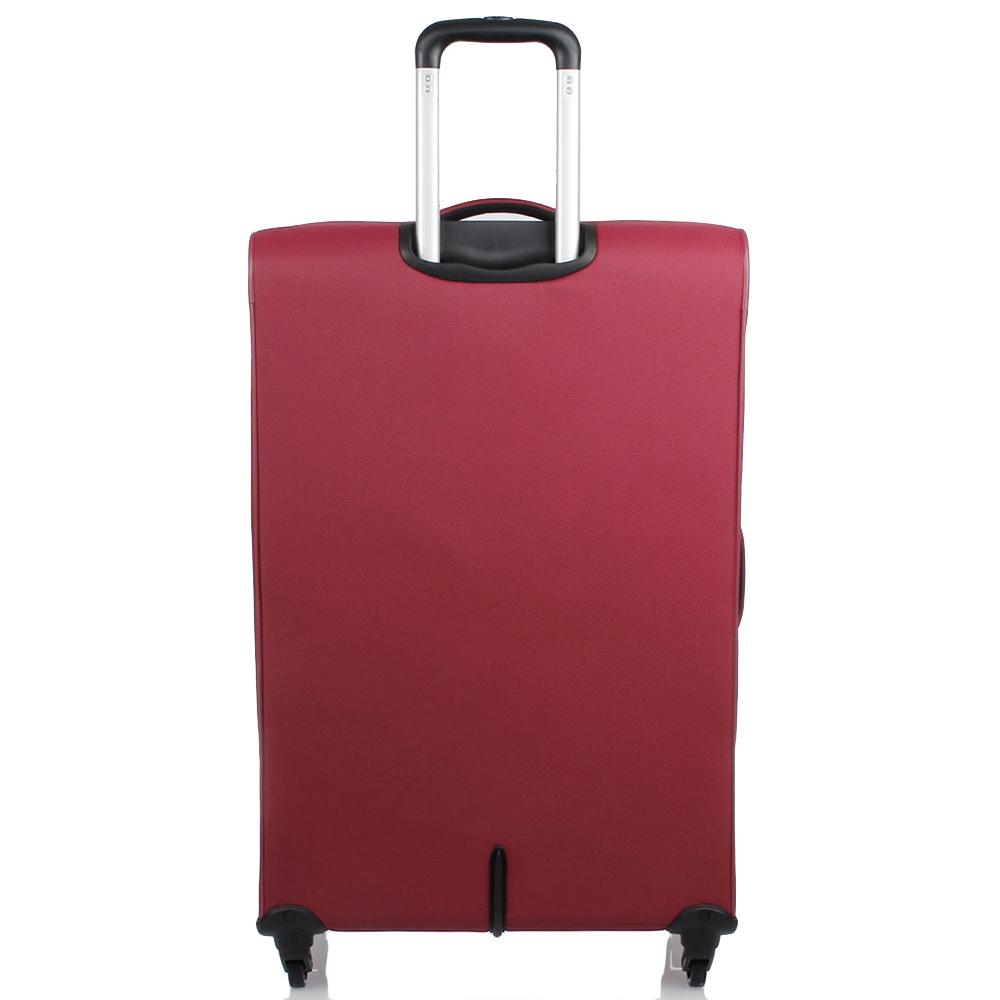 Большой красный чемодан 78х48х29-32см Roncato Ironik с замком TSA