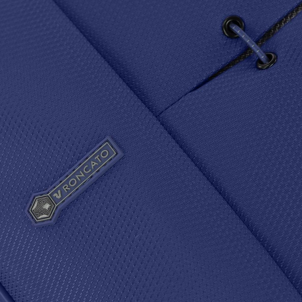 Чемодан большого размера 78х48х29-32см Roncato Ironik в синем цвете